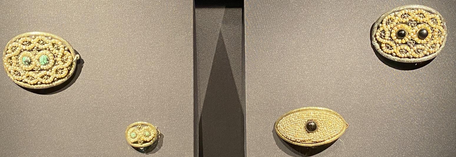 銀嵌米珠ヘアピン-特別展【七宝玲瓏-ヒマラヤからの芸術珍品】-金沙遺跡博物館-成都