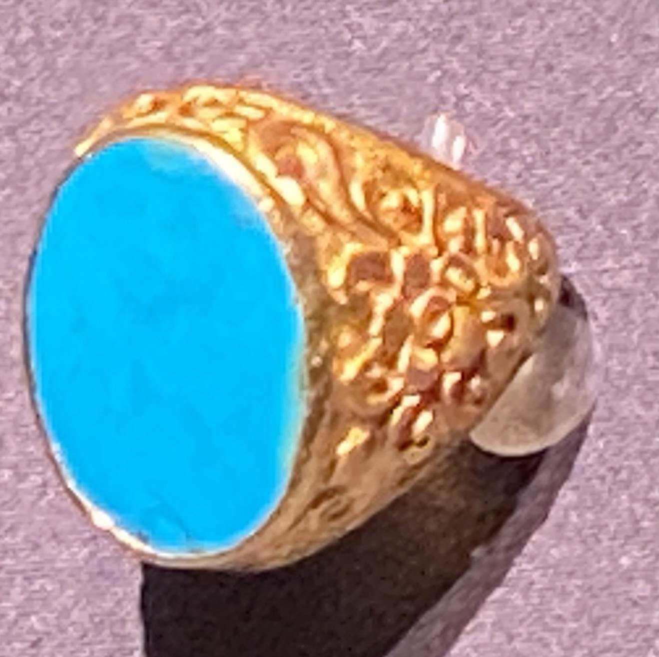 金嵌緑松石指輪-特別展【七宝玲瓏-ヒマラヤからの芸術珍品】-金沙遺跡博物館-成都