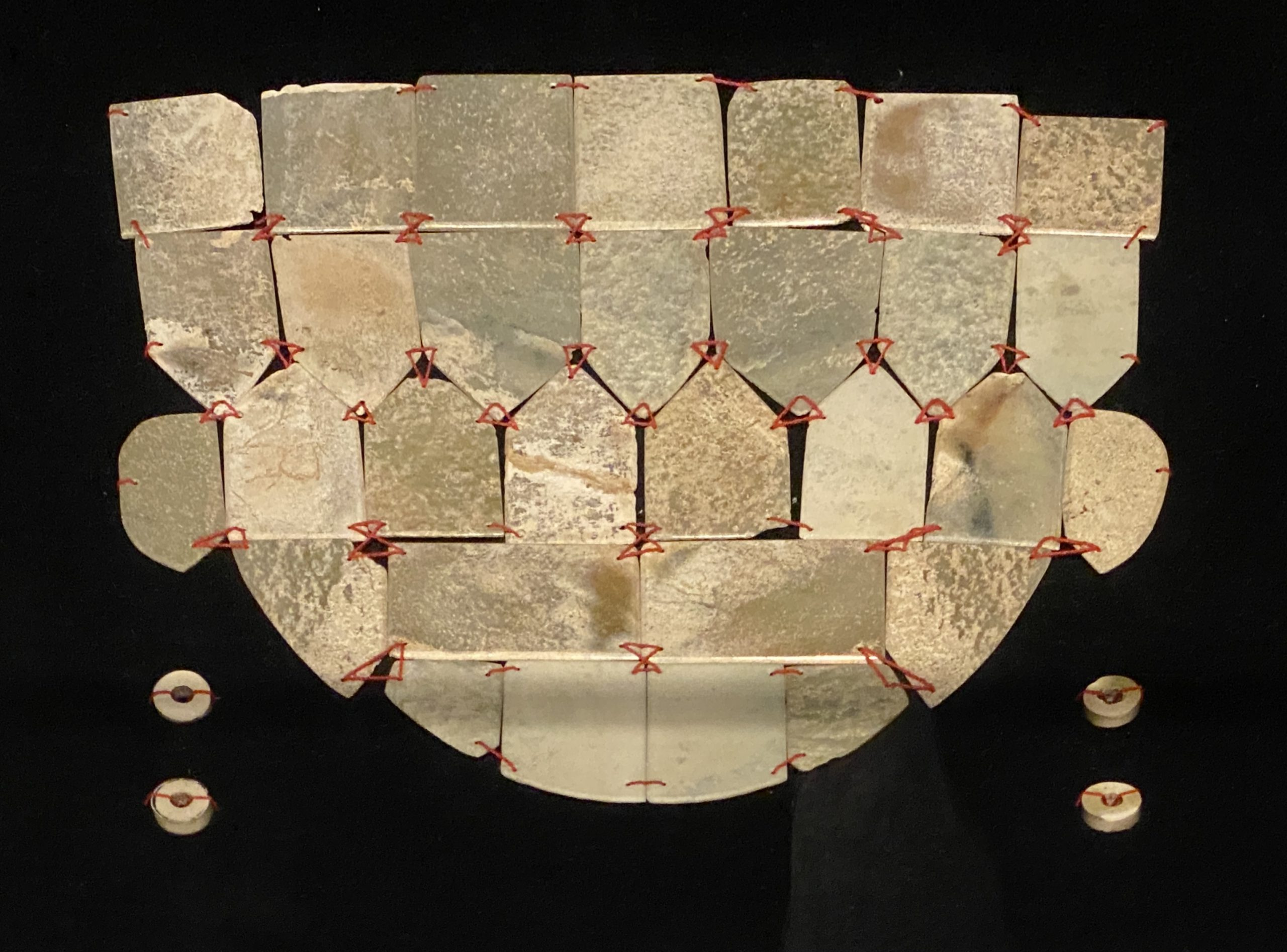 「劉涇」玉面罩-【列備五都-秦漢時代の中国都市】-成都博物館-四川成都