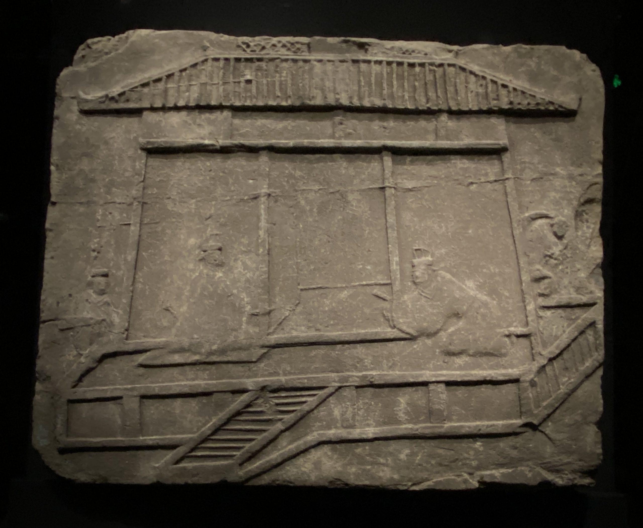 賓主画像レンガ-【列備五都-秦漢時代の中国都市】-成都博物館-四川成都