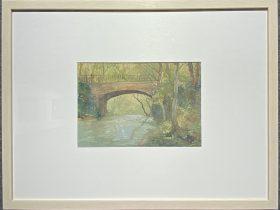 橋-1958-水彩画-21×29.5-「丹青を振りかけ、詩情を送る-何継篤個人書画展」成都市美術館