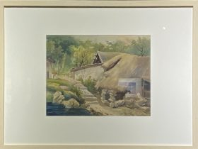 農村一角-1957-水彩画-29.5×38cm-「丹青を振りかけ、詩情を送る-何継篤個人書画展」成都市美術館