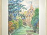 ベルギー風景-1993-水彩画-64×45cm-「丹青を振りかけ、詩情を送る-何継篤個人書画展」成都市美術館