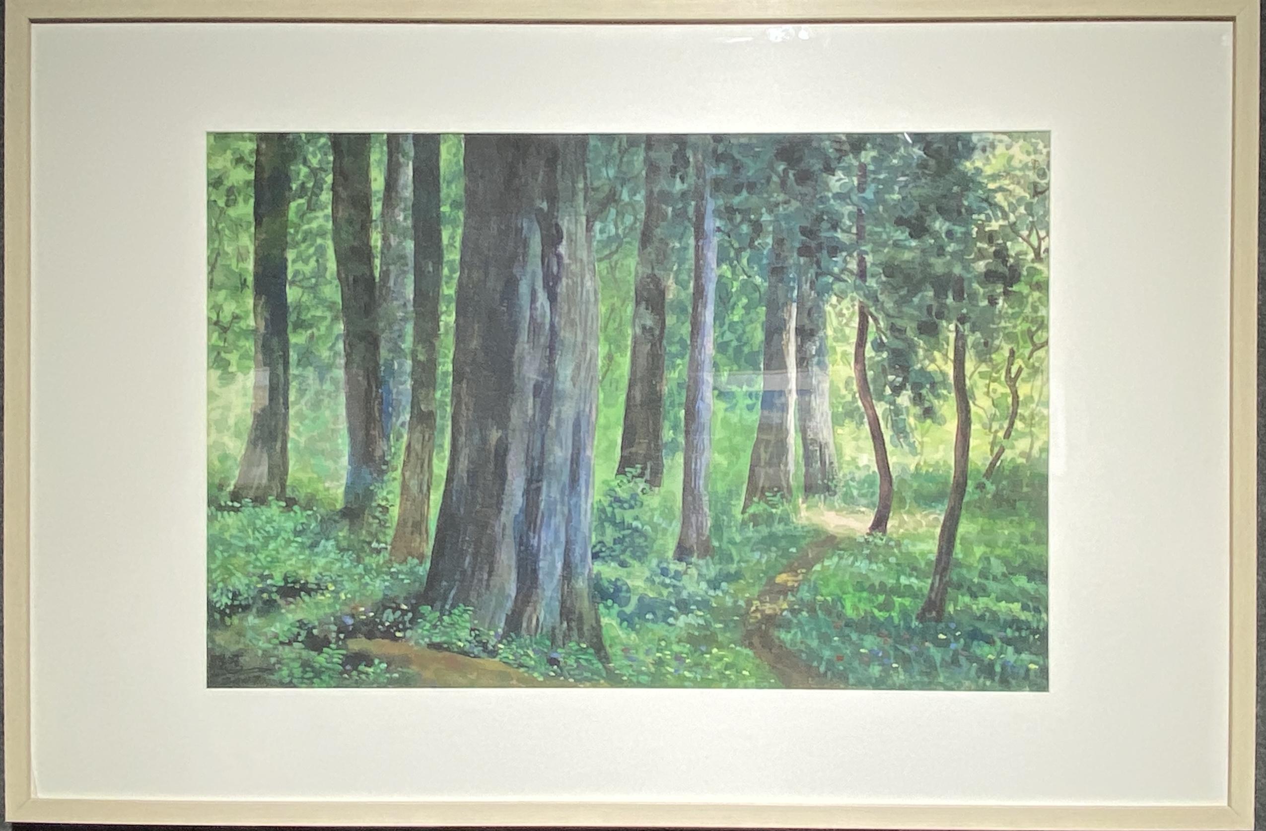森林-2007-水彩画-52×78cm-「丹青を振りかけ、詩情を送る-何継篤個人書画展」成都市美術館