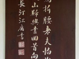 官定後戲贈-唐時代・杜甫-杜詩書法木刻廊-浣花溪公園-成都杜甫草堂博物館-書:江庸